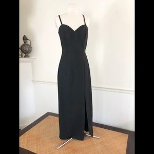 Vintage classic Black column gown 2-4 A J BARI